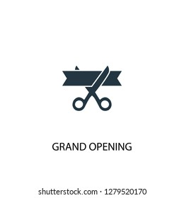 grand opening icon. Simple element illustration. grand opening concept symbol design. Can be used for web and mobile.