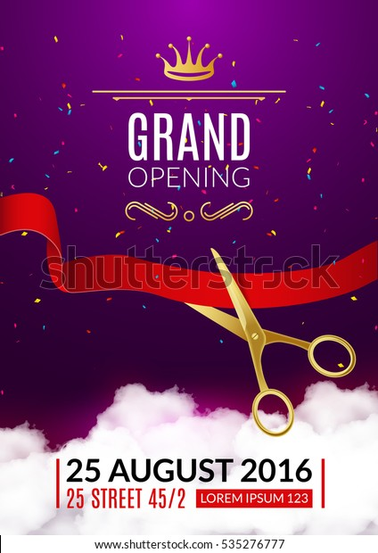 Grand Opening Invitation Card Grand Opening Stock Vector Royalty