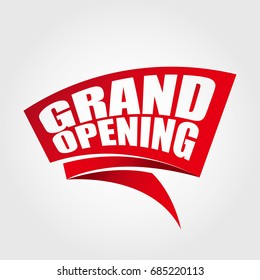 Grand opening labels banners
