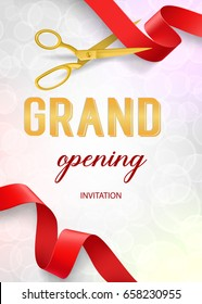 Grand Opening Lettering and Scissors