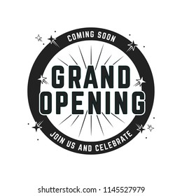 Grand Opening Shop Business Ceremony Event Sign Poster Template Illustration Background for marketing, flyers, advertisement, window decal, sticker, crafts
