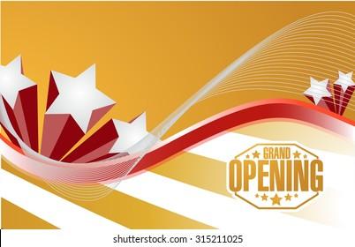 grand opening sign celebration background illustration design