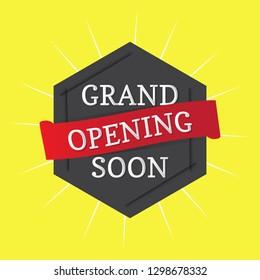 Grand Opening Soon Banner Vector Eps.10