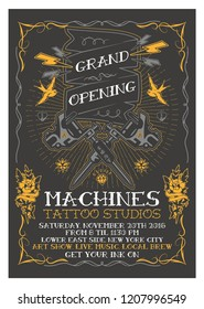 Grand Opening Studio Flyer Template