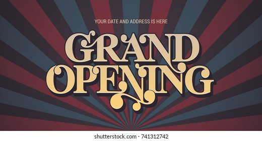 Grand opening vector background. Nonstandard design element for banner or backdrop for opening ceremony