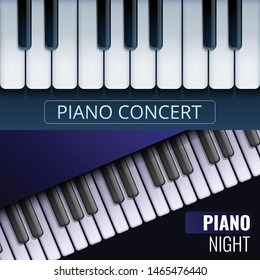 Grand piano banner set. Cartoon illustration of grand piano vector banner set for web design