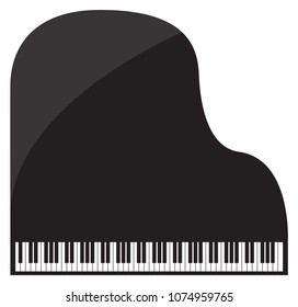 A grand piano design isolated on a white background