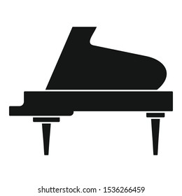 Grand piano instrument icon. Simple illustration of grand piano instrument vector icon for web design isolated on white background