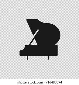 Grand piano vector icon eps 10.