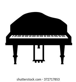 Grand piano. Vector illustration isolated on white background