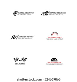 Grand prix circuit race logo sign emblem