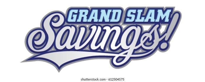 Grand Slam Savings Baseball Theme Headline