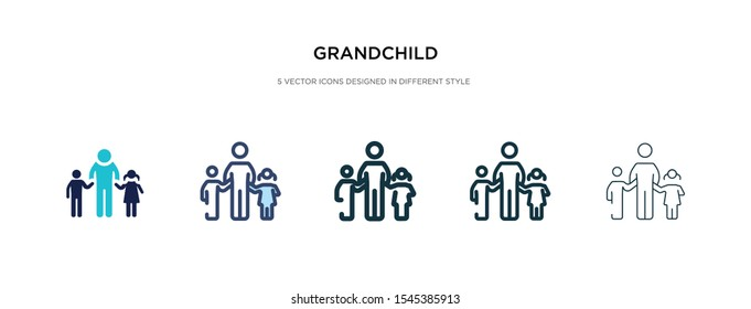 grandchild icon in different style vector illustration. two colored and black grandchild vector icons designed in filled, outline, line and stroke style can be used for web, mobile, ui