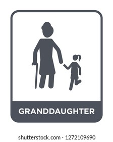 granddaughter icon vector on white background, granddaughter trendy filled icons from Family relations collection, granddaughter simple element illustration