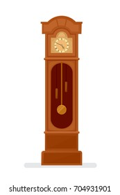 Grandfather clock icon. Clipart image isolated on white background