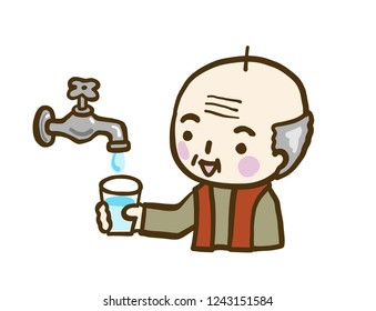 Grandfather Faucet Water