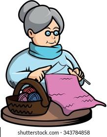 Grandma crochet vector illustration design