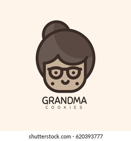 Grandma Funny Face Logo Design