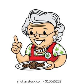 Grandma with marijuana cookies