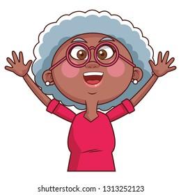 grandmother elder person glasses
