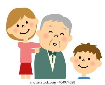 Grandpa and a grandchild