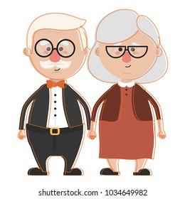 Grandparents cartoon design