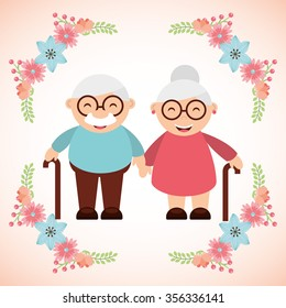 grandparents concept design, vector illustration eps10 graphic