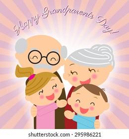Grandparents day. Family. Grandparents with grandchildren.