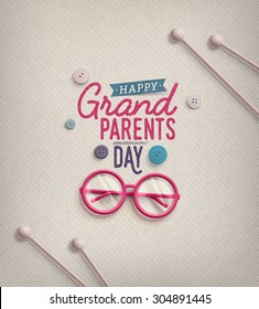 Grandparents Day, greeting card, eps 10