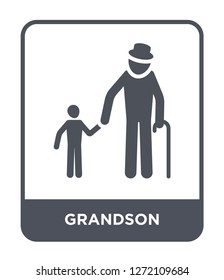 grandson icon vector on white background, grandson trendy filled icons from Family relations collection, grandson simple element illustration