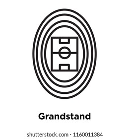 Grandstand icon vector isolated on white background, Grandstand transparent sign , sign and symbols in thin linear outline style