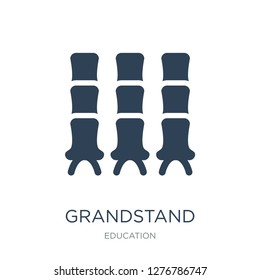 grandstand icon vector on white background, grandstand trendy filled icons from Education collection, grandstand vector illustration