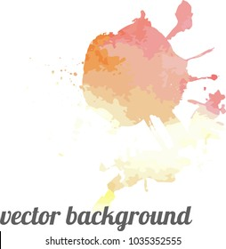 Grange hand draw watercolor vector background