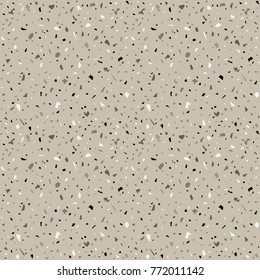Granite stone terrazzo floor texture. Abstract  background, seamless pattern. Vector illustration.