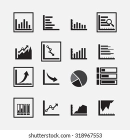 grap and chart icon set