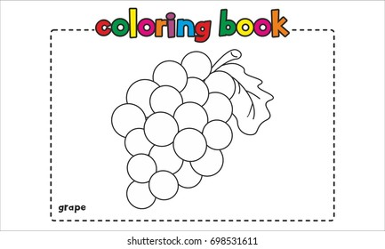 grape coloring book page 260nw