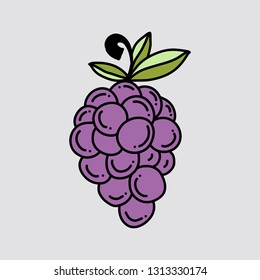 grape in doodle style
