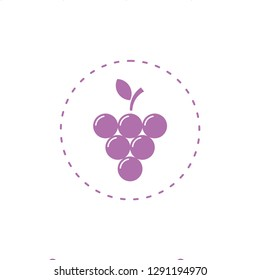 Grape fresh fruits icon vector food and drink logo design