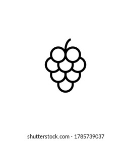 Grape fruit icon  in black line style icon, style isolated on white background