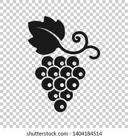 Grape fruits sign icon in transparent style. Grapevine vector illustration on isolated background. Wine grapes business concept.