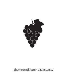 Grape Icon Food Fruit silhouette black and white sign symbol emblem