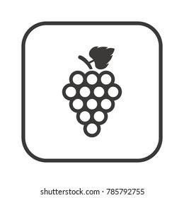Grape icon, isolated. Flat  design.