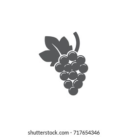Grape Icon on the white background