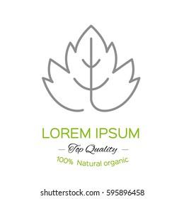 grape leaf icon. Contour Design.