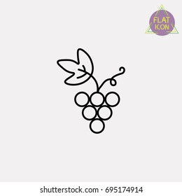 grape line icon