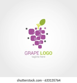 Grape Logo Design Template. Vector Illustration