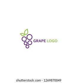 Grape Logo Template - vector