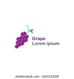 Grape Logo Template - vector design