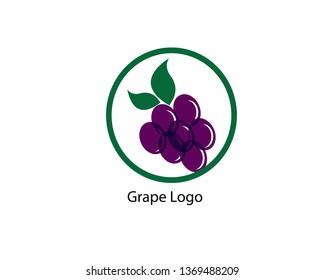 Grape vector logo - Vector
