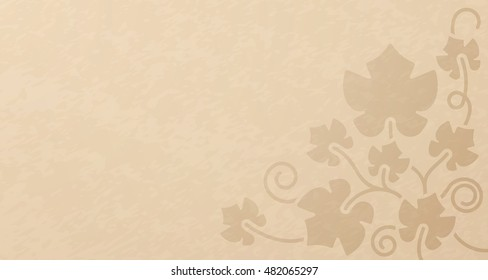 Grape vine and farming background concept with space for your copy.